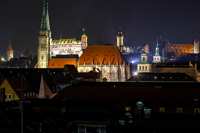Imperial Castle of Nuremberg at night